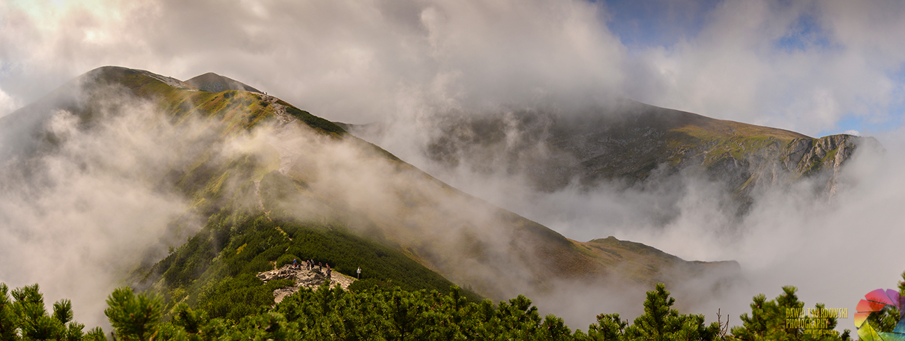 Giewont, morze chmur, Tatry, Dawid Twardowski, hezotart