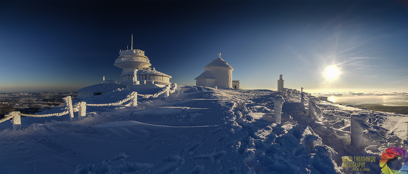 Karkonosze, Sudety, Śnieżka, Kaplica św. Wawrzyńca, obserwatorium na śnieżce, Dawid Twardowski, hezotart