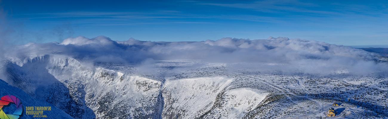 Śnieżka, morze chmur, Karkonosze, Dawid Twardowski, hezotart